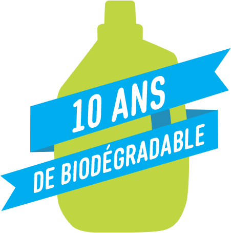 10 ans de biodégradable