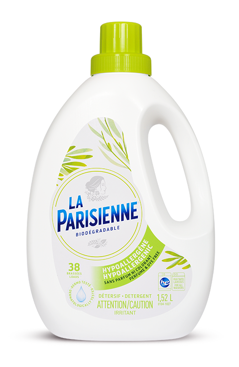 Hypoallergenic laundry detergent, Perfume and dye free
